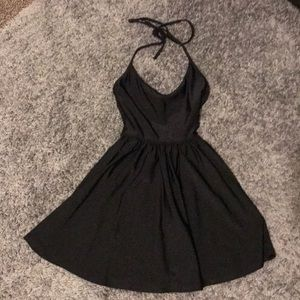 American apparel black tricot skater dress